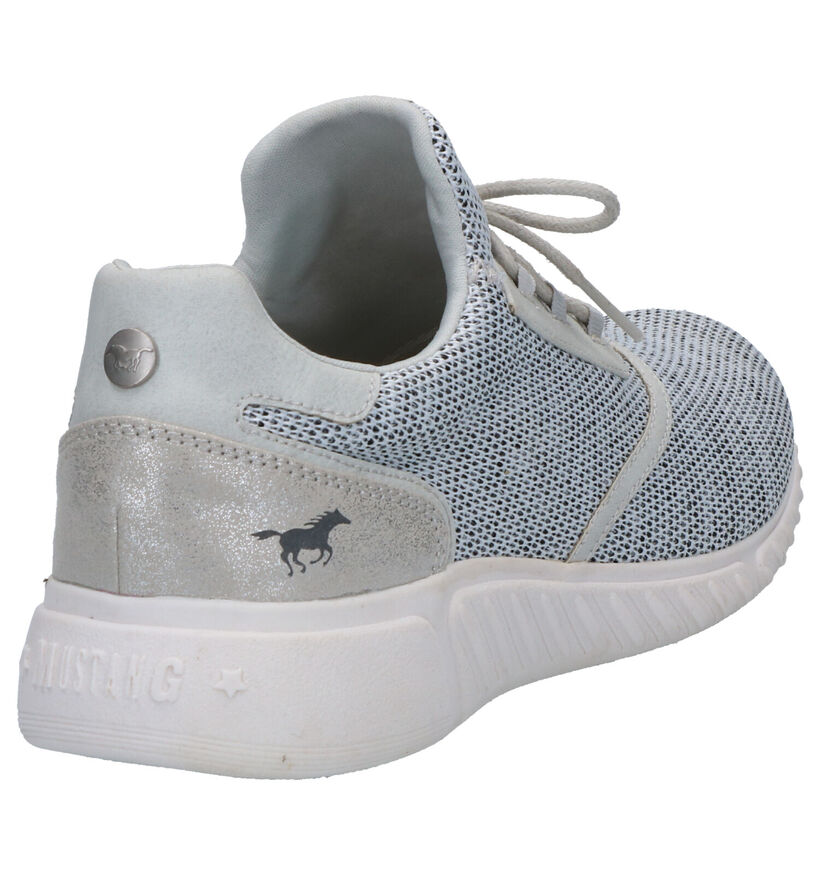 Mustang Grijze Sneakers in stof (266727)