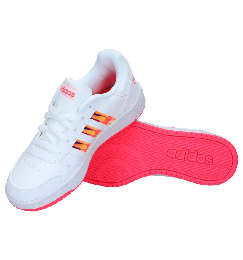 adidas Hoops Baskets en Blanc en simili cuir (284524)