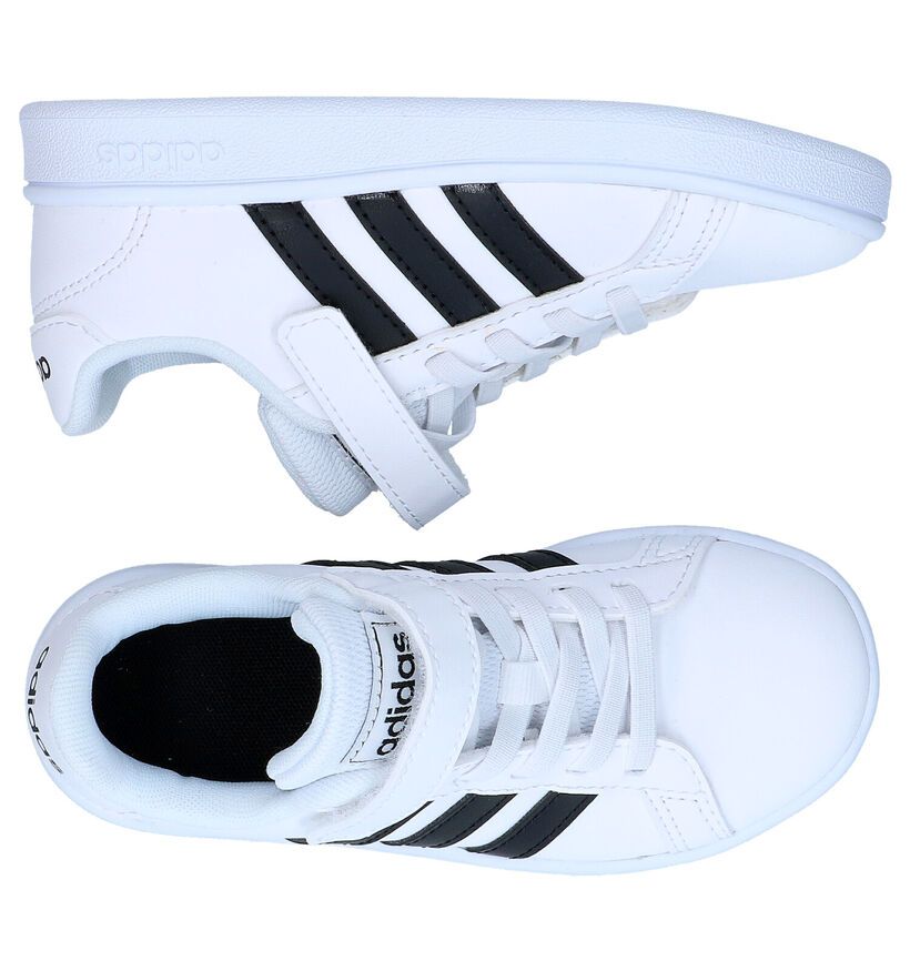 adidas Grand Court Witte Sneakers in kunstleer (252548)