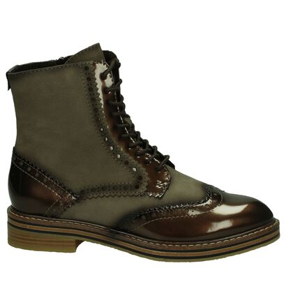 Taupe Marco Tozzi Boots in lakleer (202651)