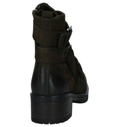 Kaki Boots met Gespen Baboos in nubuck (235319)