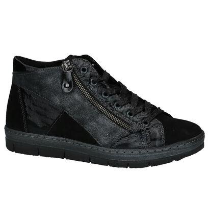 Remonte Baskets hautes en Noir en simili cuir (222569)