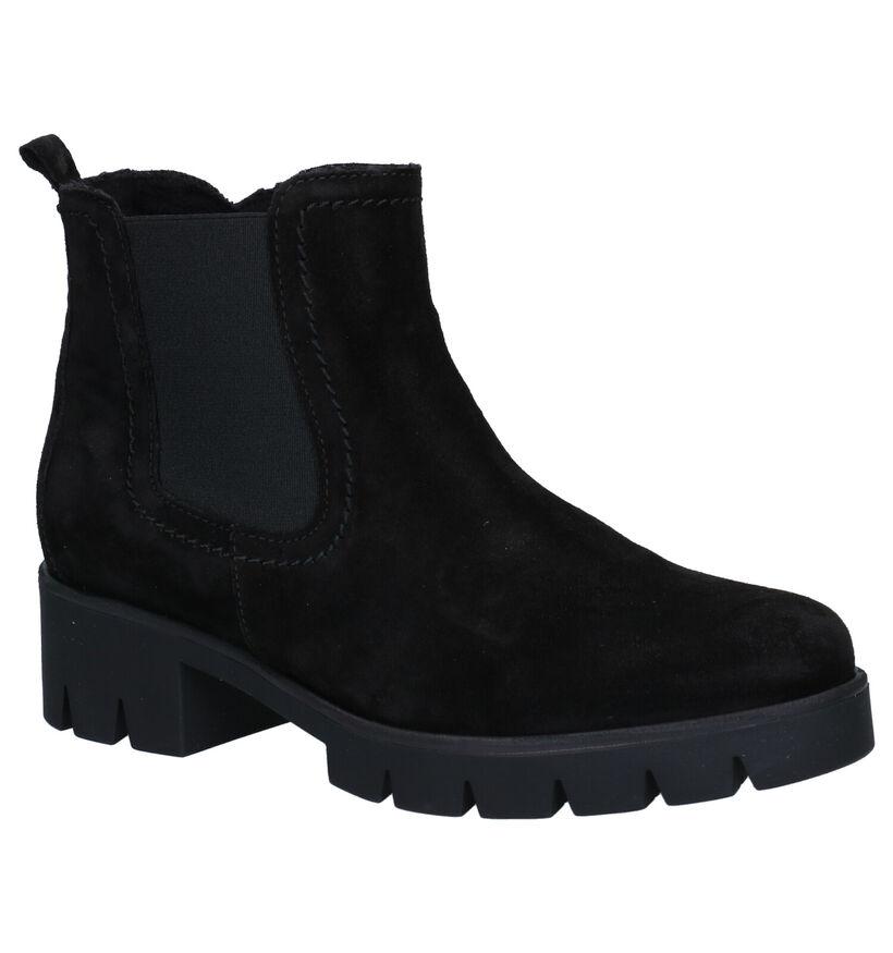 Gabor Best Fitting Zwarte Boots in nubuck (282416)