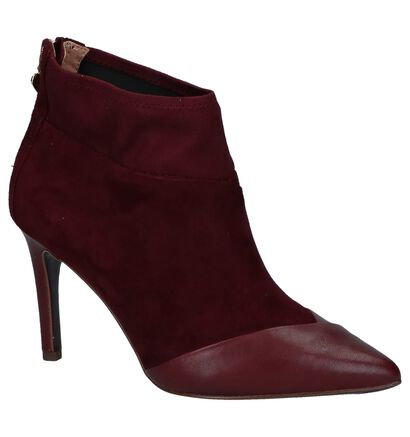 Bordeaux Enkellaarzen met Rits Tamaris Heart & Sole in daim (226750)