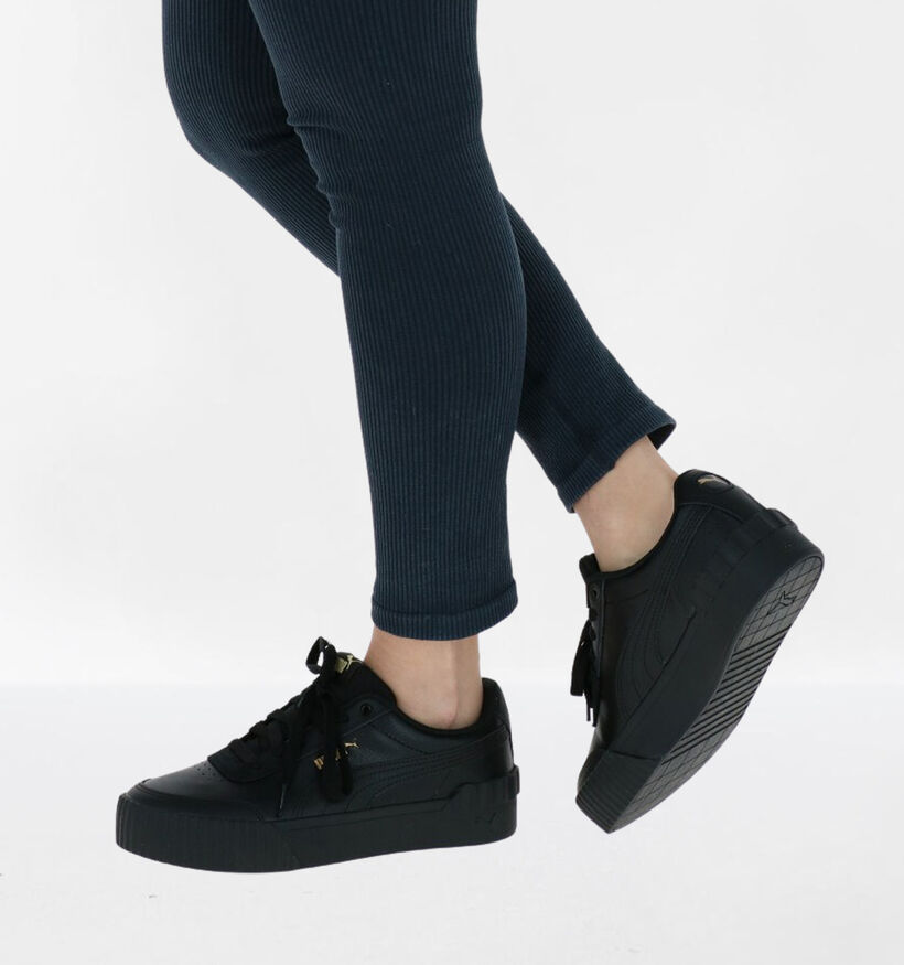Puma Carina Zwarte Sneakers in kunstleer (276778)