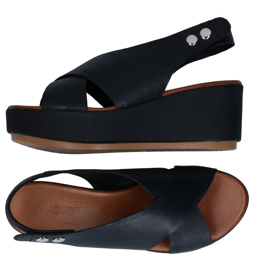 Inuovo Zwarte Sandalen in leer (292691)