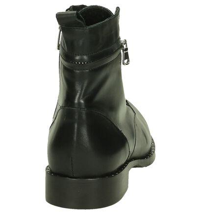 Zwarte Boots Via Roma met Rits/Veter in leer (201171)