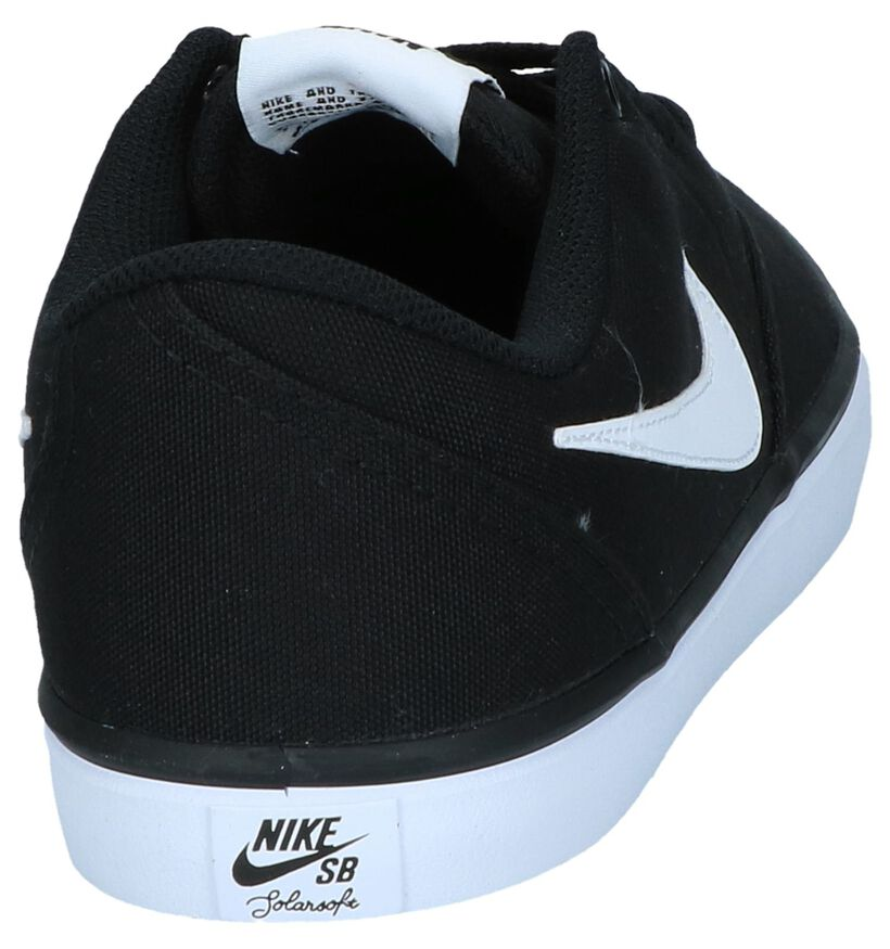 Zwarte Lage Skateschoenen Nike SB Check Solar in stof (238266)