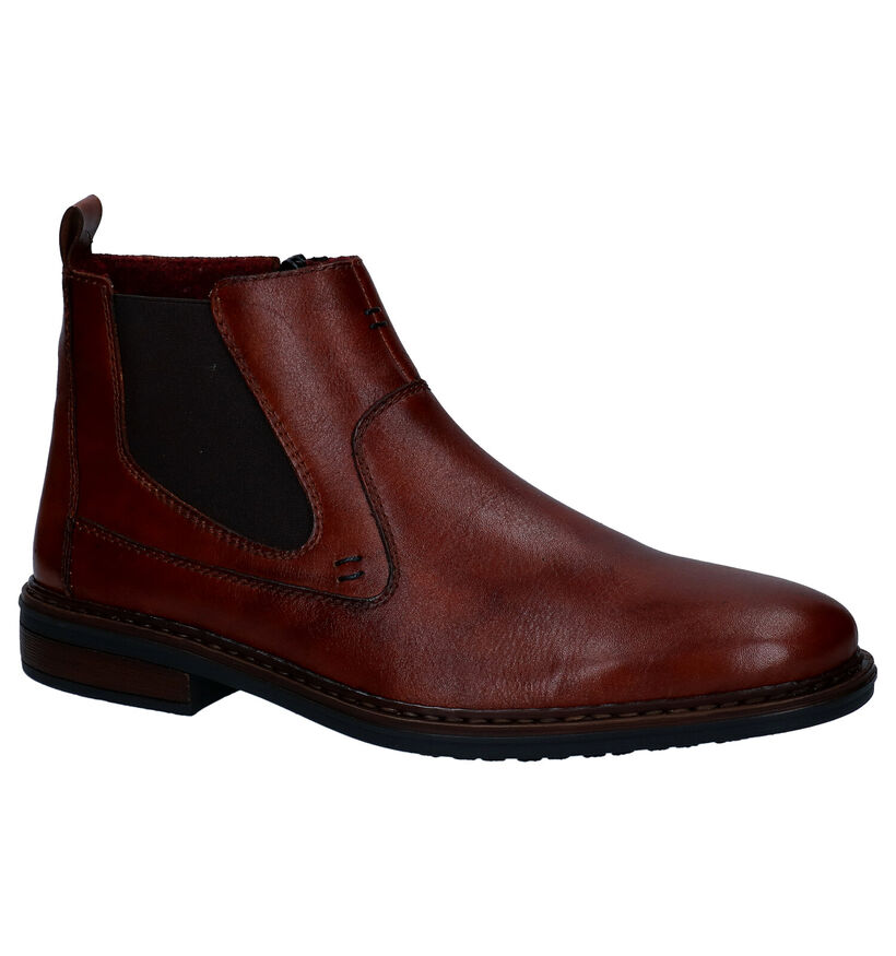 Rieker Chaussures hautes en Cognac en cuir (297835)