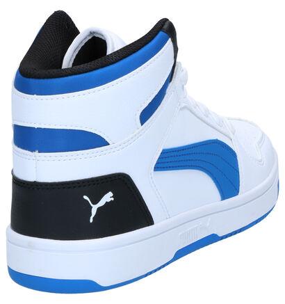 Puma Rebound Baskets en Blanc en simili cuir (265631)