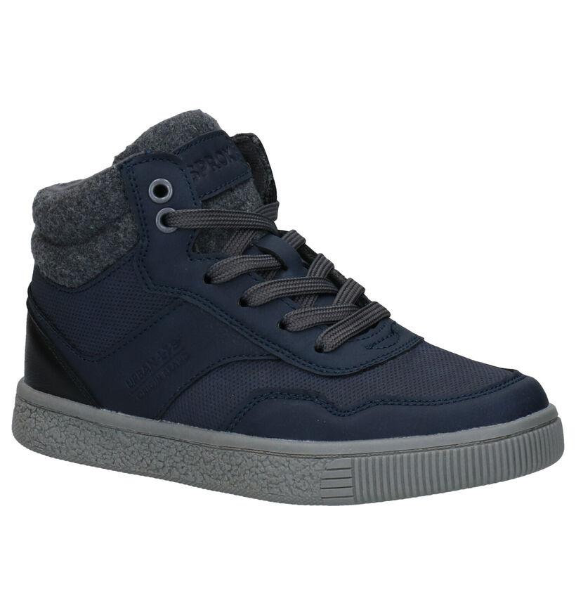 Sprox Chaussures hautes en Bleu foncé en simili cuir (291376)