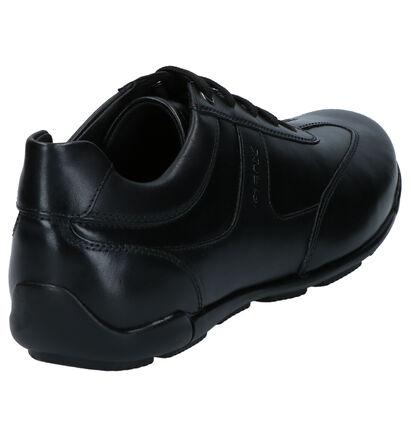Geox Chaussures à lacets en Noir en cuir (266685)