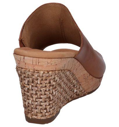 Gabor Nu-pieds à talons en Cognac en cuir (245583)