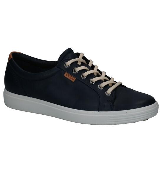 Ecco Soft 7 Blauwe Veterschoenen