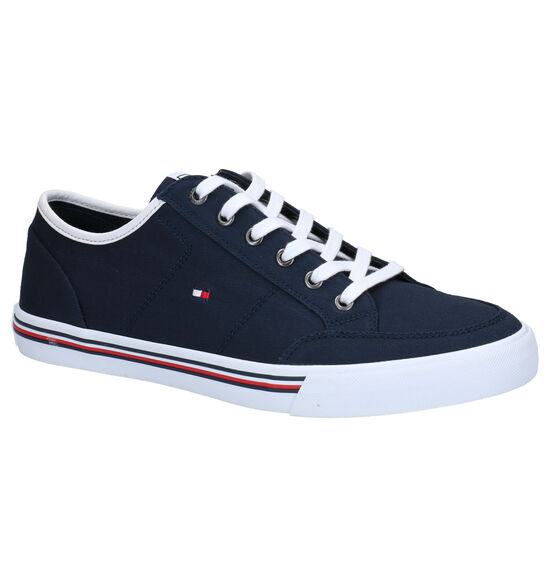 Tommy Hilfiger Corporate Blauwe Sneakers