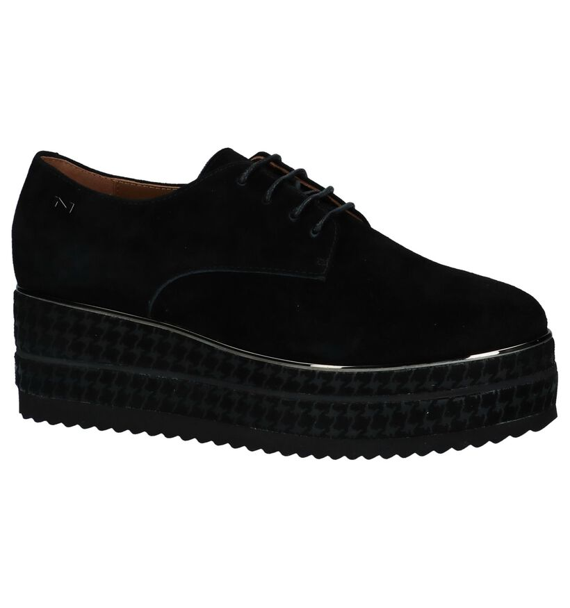 Nathan-Baume Chaussures à lacets en Noir en nubuck (233096)