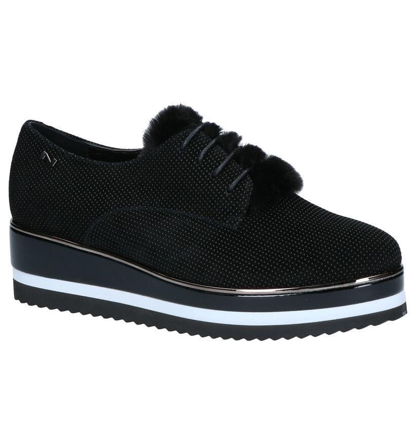 Nathan-Baume Chaussures à lacets en Noir en nubuck (262282)