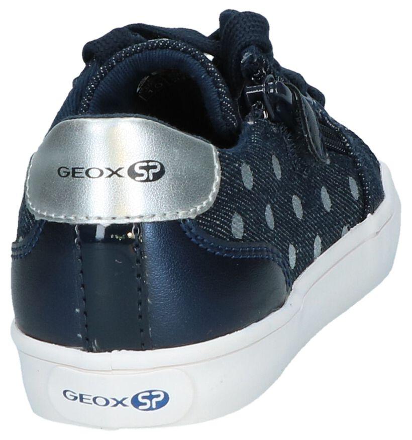 Geox Chaussures basses en Bleu foncé en textile (237276)