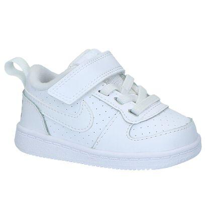 Babysneakers Nike Court Borough Wit in imitatieleer (219591)
