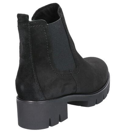 Gabor Zwarte Chelsea Boots in daim (260121)