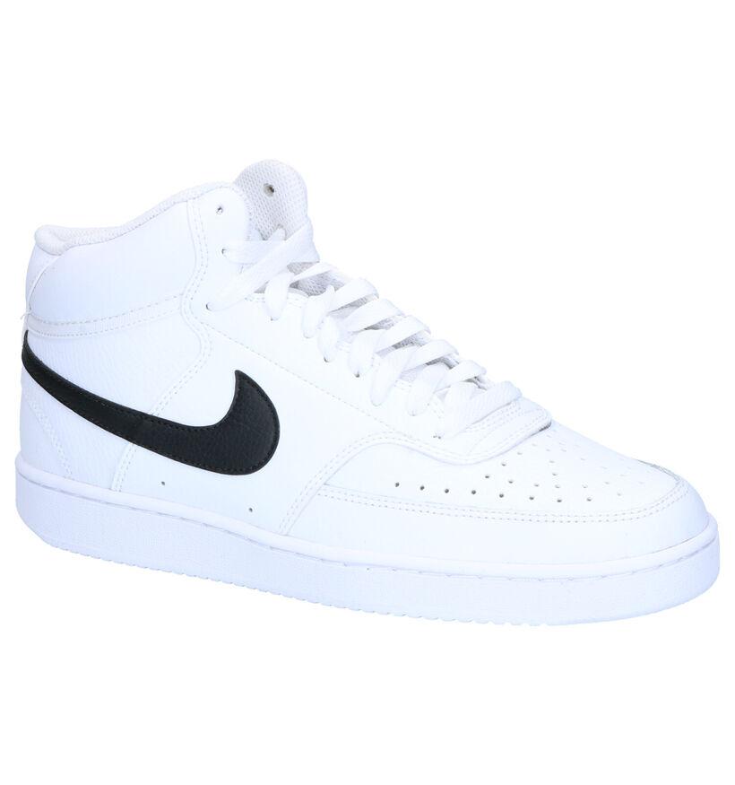 Nike Court Vision Mid Witte Sneakers in kunstleer (283887)