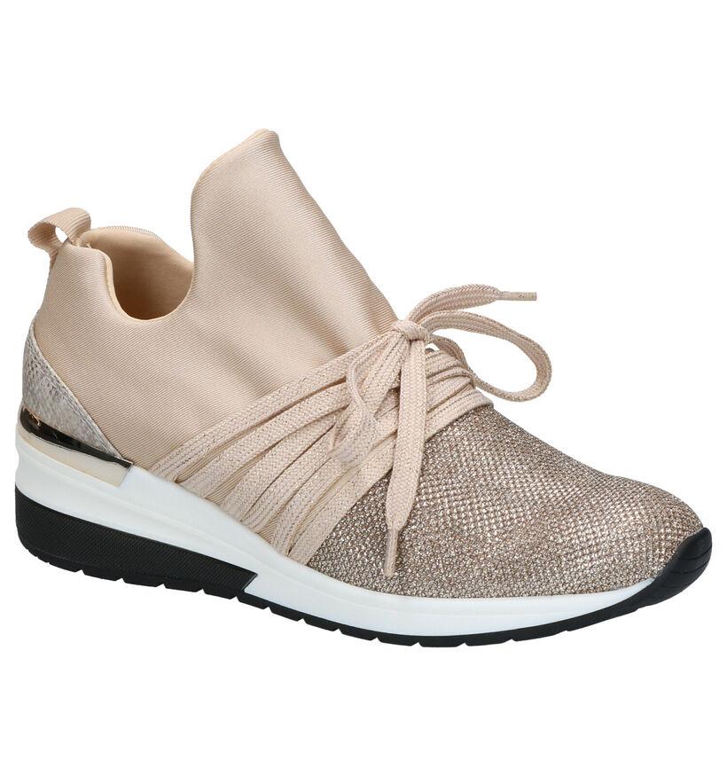 La Strada Beige Sneakers in stof (279205)