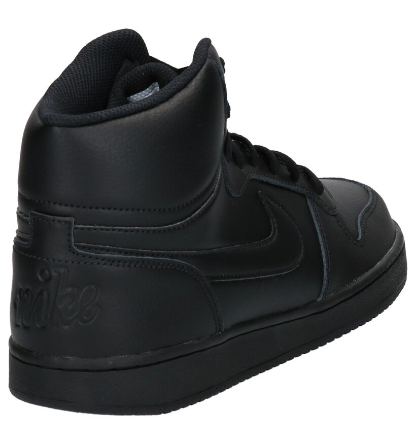 Nike Ebernon Mid Baskets en Noir en cuir (254038)