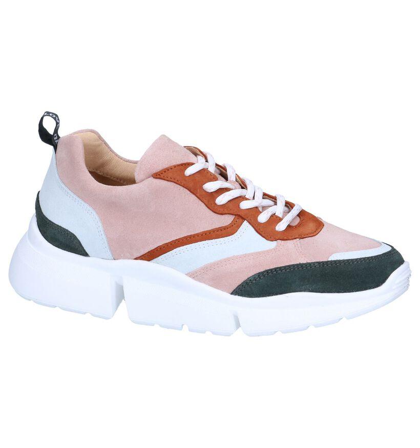 Beige Sneakers Deabused in daim (263732)
