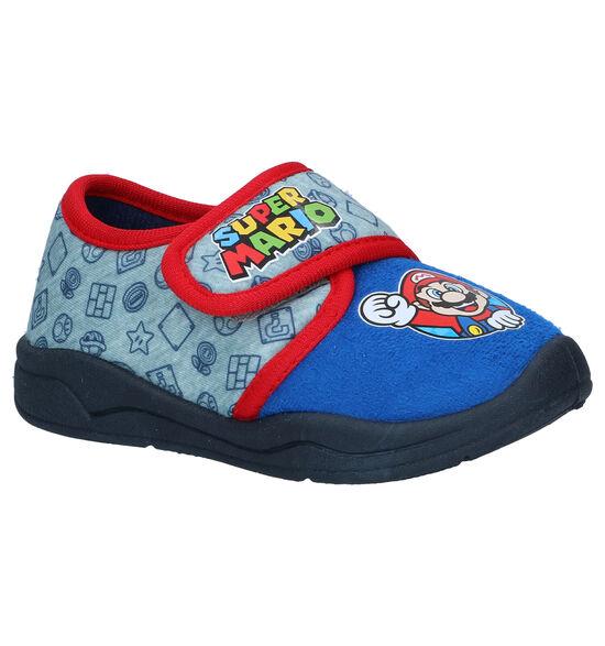 Super Mario Pantoufles en Bleu