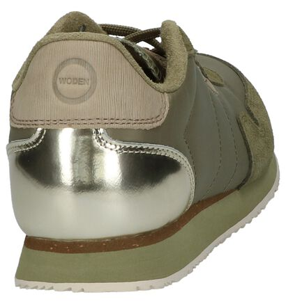 Witte Woden Nora II Sneakers, Groen, pdp