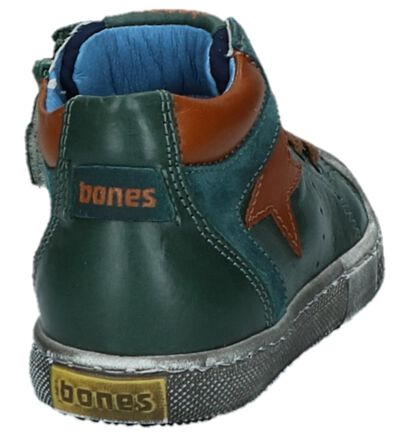 Donkergroene Geklede Boots Stones and Bones Leno in leer (223422)
