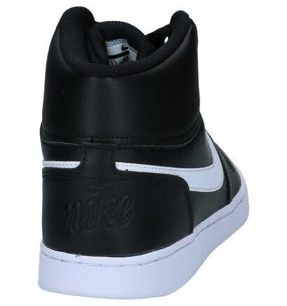 Nike Ebernon Baskets hautes en Noir en cuir (234127)
