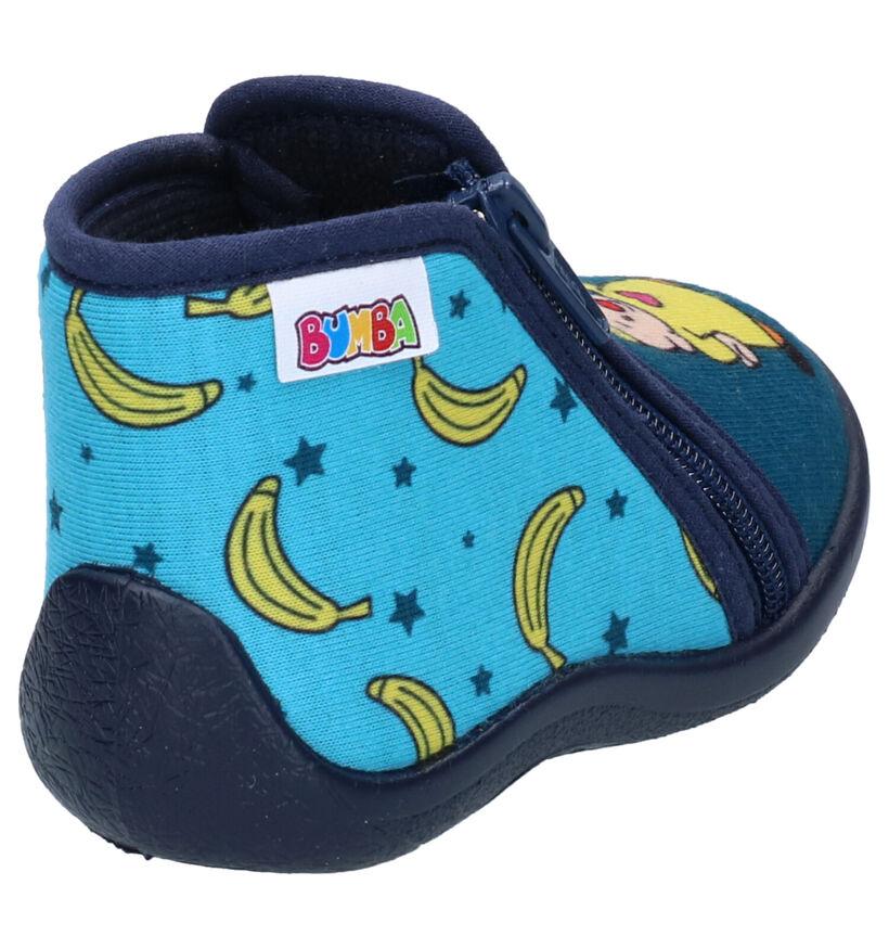 Bumba Blauwe Pantoffels in stof (279790)