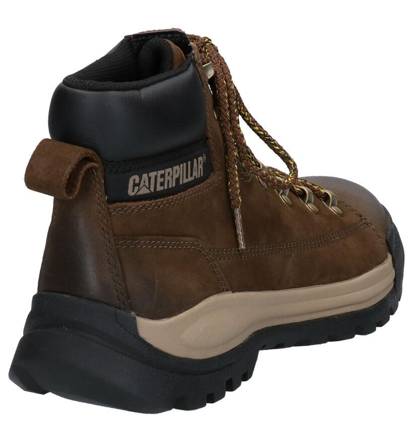 Caterpillar Brawn Beetle Bruine Boots in leer (256181)