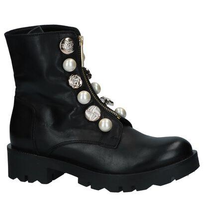Tosca Blu Zwarte Boots in leer (227407)