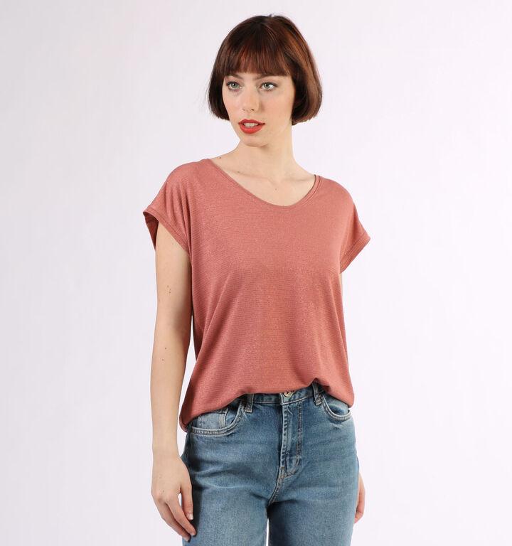 Pieces T-shirt en Rose