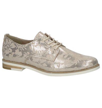 Marco Tozzi Chaussures à lacets en Or en textile (214447)
