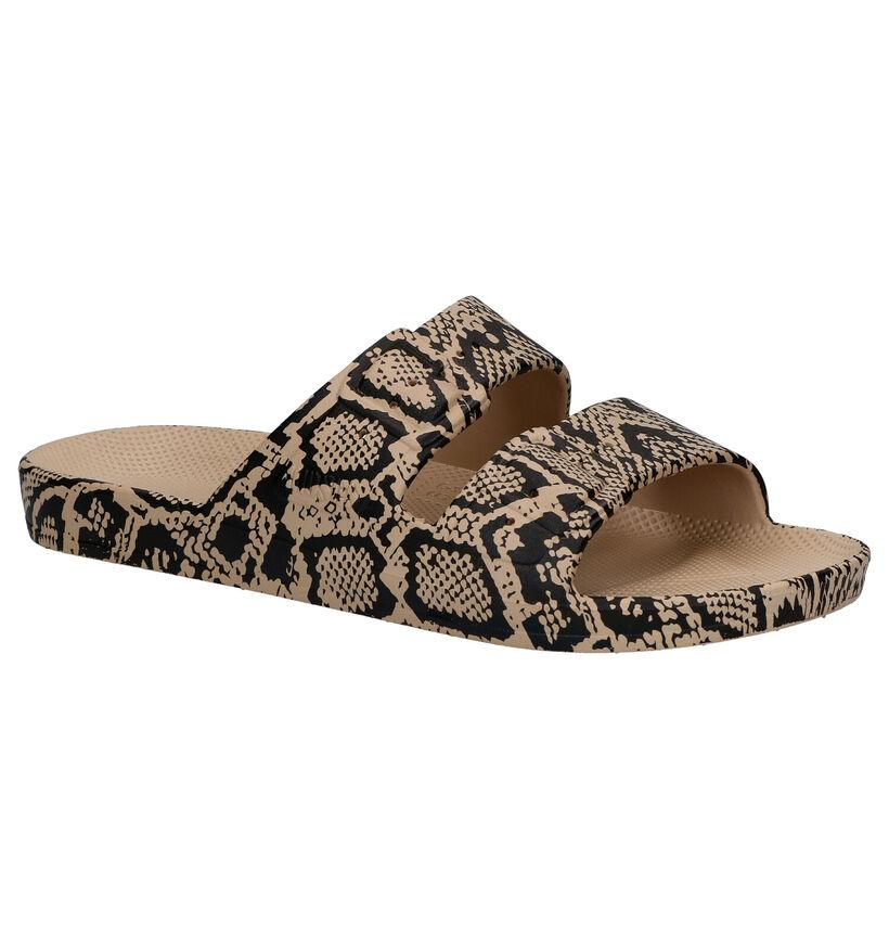 Freedom of Moses Cobra Sands Beige Slippers in kunststof (275887)