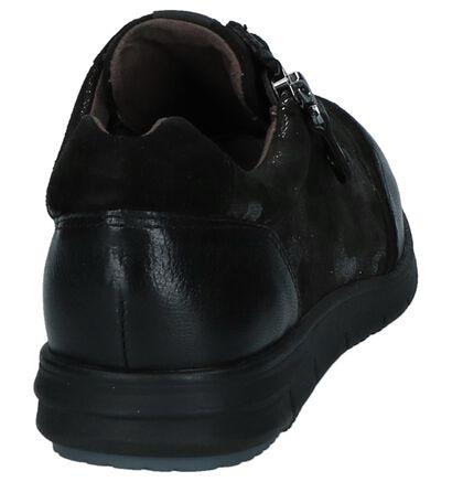 Caprice Chaussures à lacets en Noir en cuir (222624)
