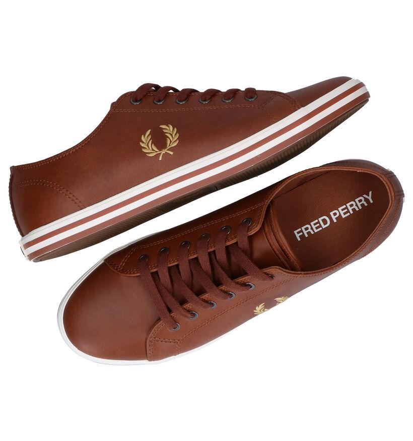Fred Perry Witte Sneakers in kunstleer (275084)