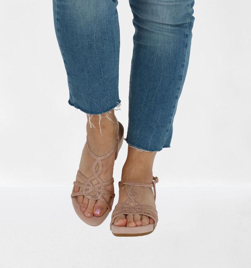 Youh! Roze Sandalen in stof (266438)