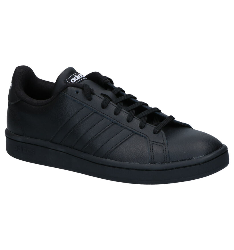 adidas Grand Court Zwarte Sneakers in leer (264657)