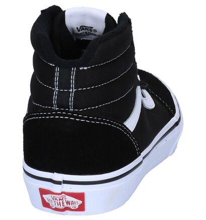 Zwarte Hoge Skateschoenen Vans Ward in daim (253300)