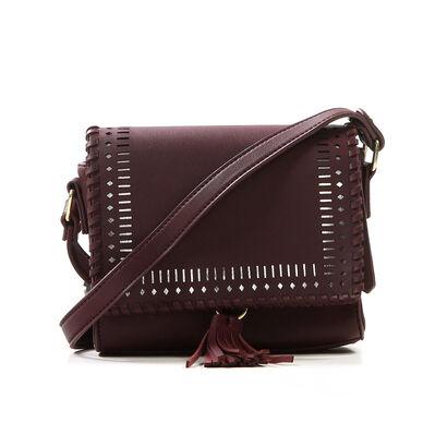 Crossbody Tasje Bordeaux PB Fashion in imitatieleer (206461)
