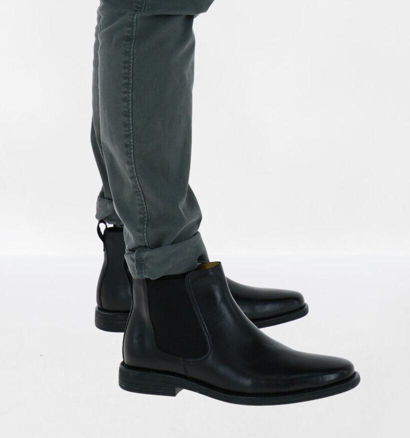 Steptronic Austin Chelsea Boots en Noir en cuir (292713)