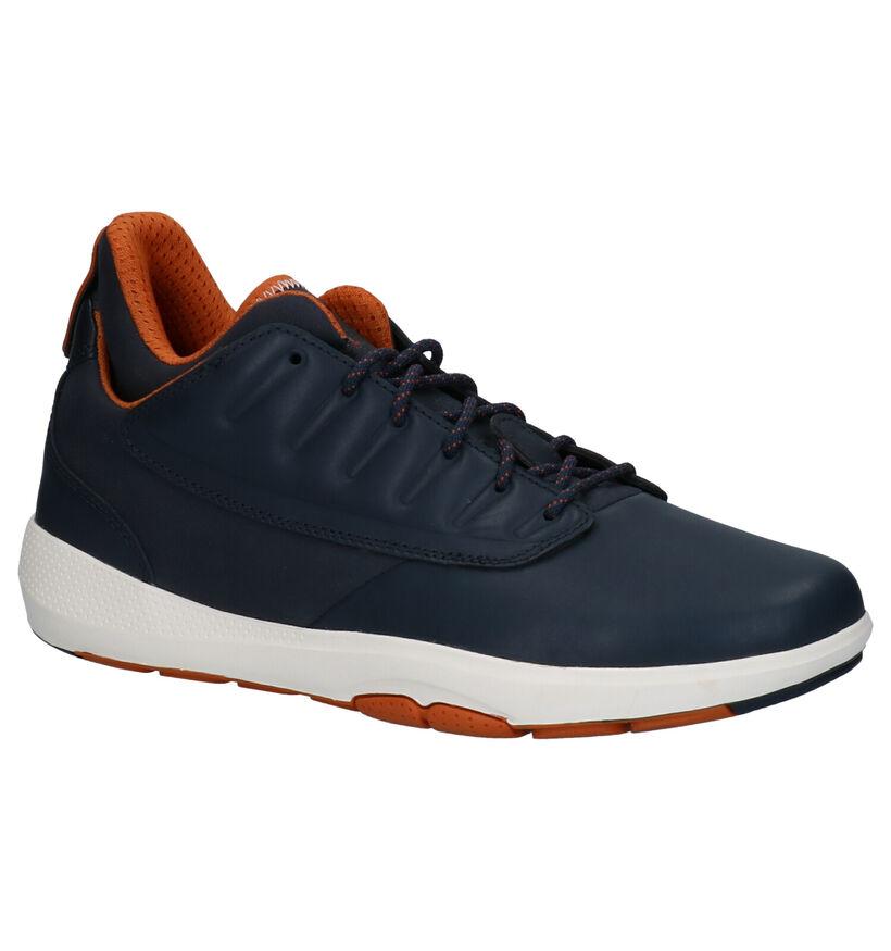 Geox Sneakers Blauw in leer (264087)