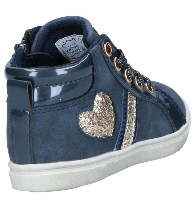 K3 Chaussures hautes en Bleu en simili cuir (260596)