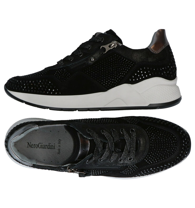 NeroGiardini Chaussures à lacets en Noir en daim (278975)