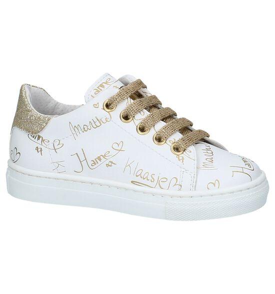 Witte Sneakers K3 met Gouden Handtekeningen