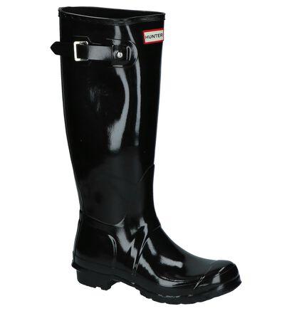 Blinkende Zwarte Hunter Regenlaarzen in rubber (226589)